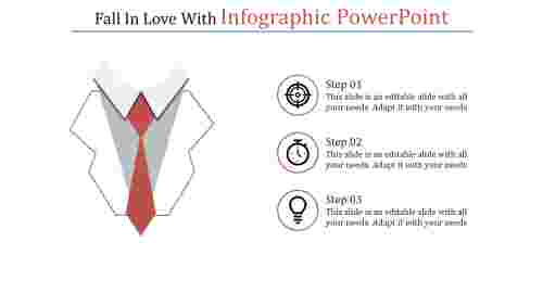 A three noded infographic powerpoint